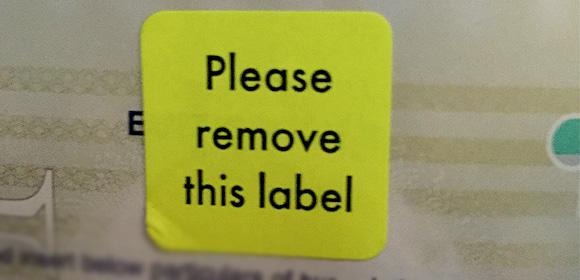The Most Pointless Label in the World?