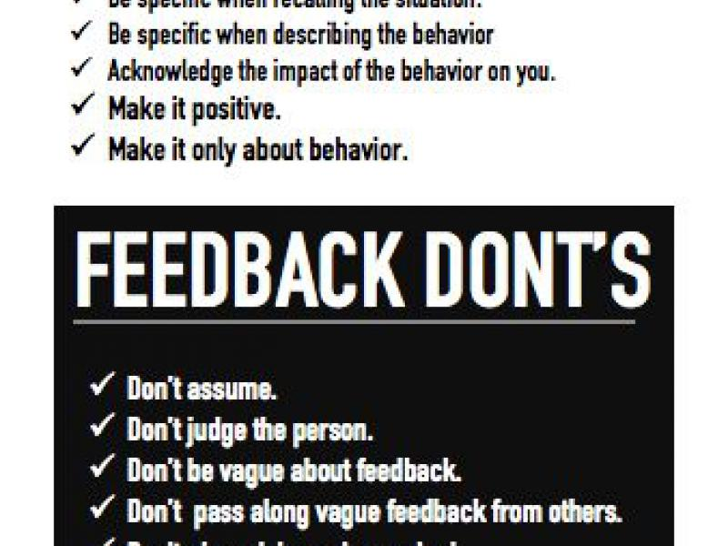 Feedback Do's and Don'ts