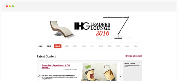 The IHG Leaders Lounge